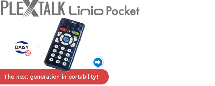 Click here to download the PLEXTALK Linio Pocket brochure.