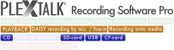 PLEXTALK Recording Software Pro