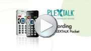 Go to video guides - Recording with the PLEXTALK Pocket PTP1