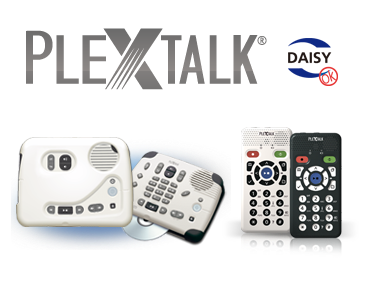 PLEXTALK offers a better reading environment.