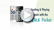 Go to video guide - To play NLS books on PLEXTALK Pocket PTP1