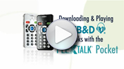 Go to video guides - To play Learning Ally books on PLEXTALK Pocket PTP1