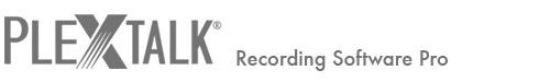 PLEXTALK Recording Software Pro
