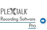 Go to PLEXTALK Recording software Pro support page